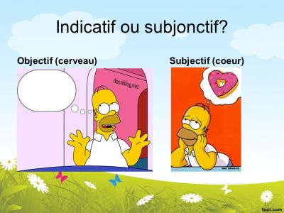 Image result for subjonctif ou indicatif